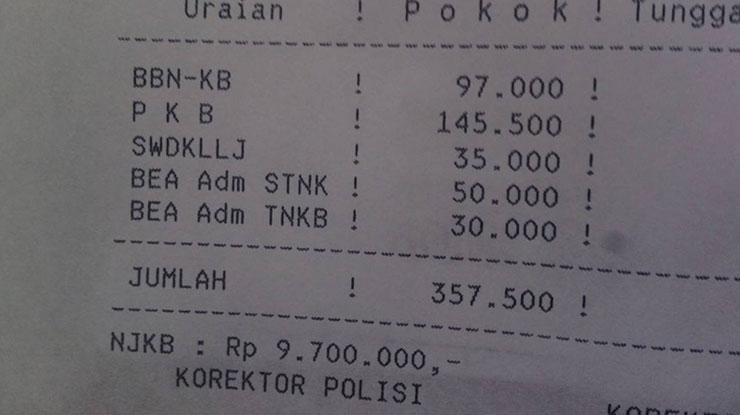 Biaya Untuk Balik Nama BPKB Mobil