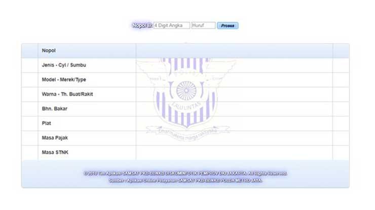 Cek STNK Online DKI Jakarta
