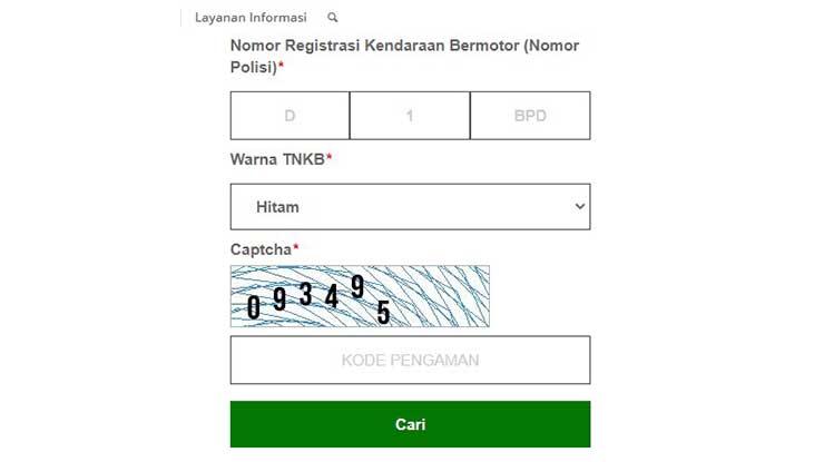 Cek STNK Online Jawa Barat
