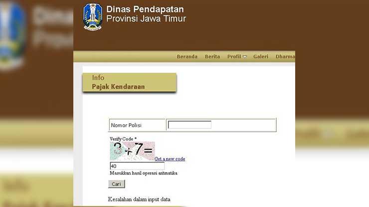 Cek STNK Online Jawa Timur