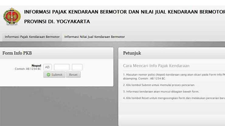Cek STNK Online Yogyakarta