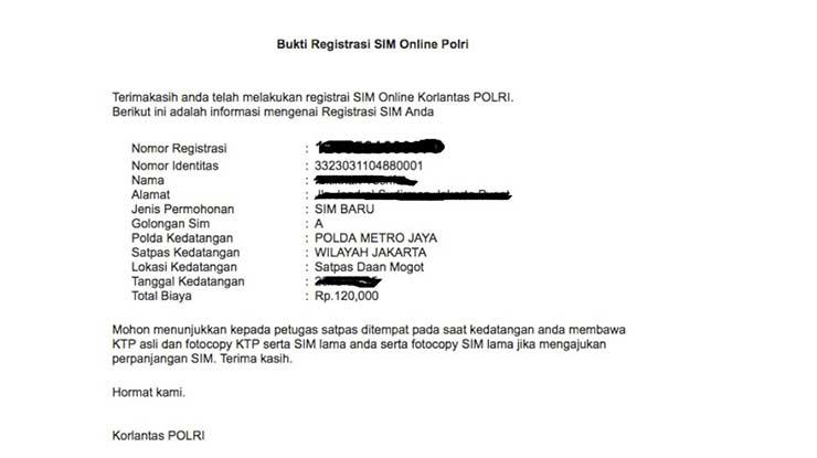 Penyebab Tidak Dapat Email Konfirmasi SIM Online