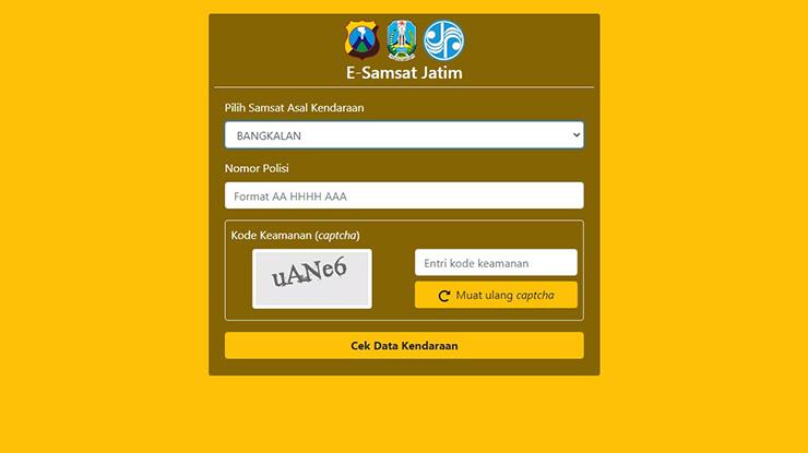 Cek Pajak via Situs Samsat