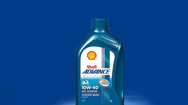 4. Harga Oli Shell Advance AX7 Matic 10W 40