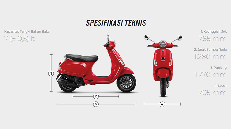 Spesifikasi Vespa LX 125