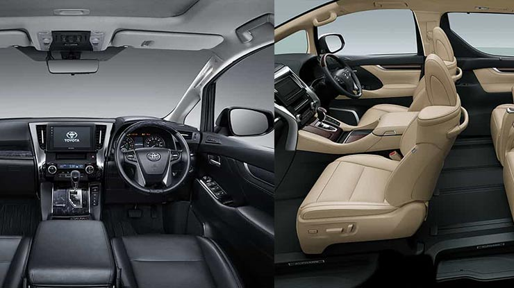Interior Toyota Alphard dan Vellfire