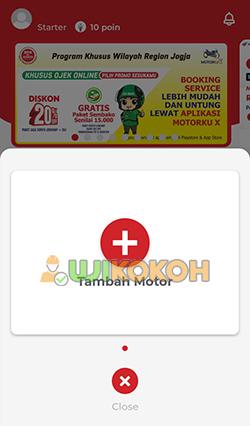 1. Tambahkan Kendaraan Motor Honda Booking Online